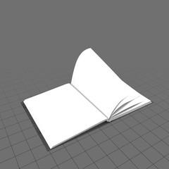 Open bound sketchbook 2