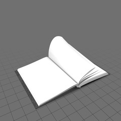 Open bound sketchbook 1
