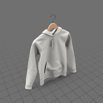 Hanging fitted hoodie with tag (womens)