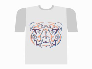Tribal bear tshirt mockup