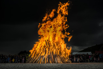 Awesome Easter / Bonfire in North Rhine-Westphalia in Germany. Osterfeuer