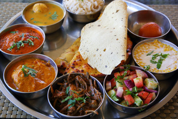 Indian rajasthani thali plate