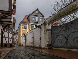 The architecture of city Hildesheim, Germany