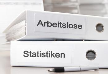 Arbeitslosenstatistik Aktenordner