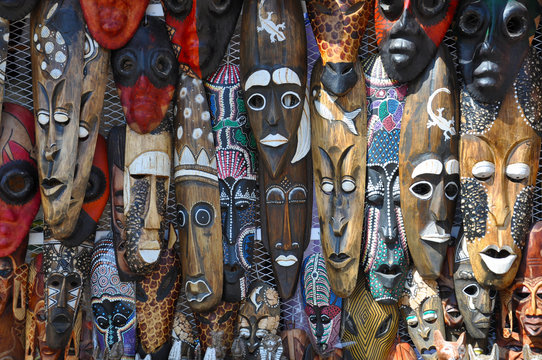 Wooden Face Masks