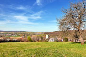 Frühlingslandschaft im Enzkreis bei Königsbach-Stein
