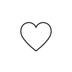 Heart icon vector illustration. Linear symbol with thin outline