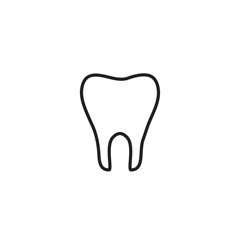 Outline tooth icon vector illustration on white background