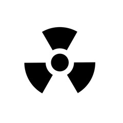 nuclear sign. Radioactive contamination symbol. Vector illustration.