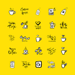 카페 포스터 / 손으로 그린 커피 그림
