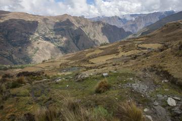 Piruro site Nothern Peru. Inca culture Andes