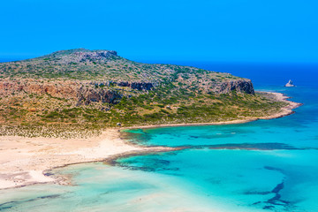 Beautiful summer landscape of the southern coast of the Crete
