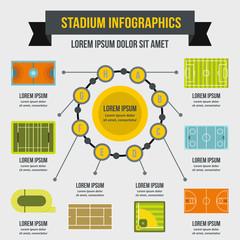 Stadium infographic concept, flat style