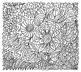 Hand drawn floral backdrop