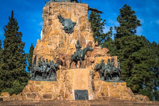 Mendoza - July 05, 2017: Memorial statue at Cerro de la Gloria in Mendoza, Argentina
