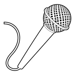 Microphone icon, outline style