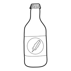 Bottle of cold water eco icon, outline style