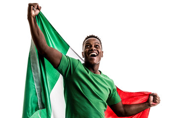 Fan / Sport Player holding the flag of Mexico