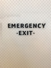 Hand Painted Emergency Exit Sign