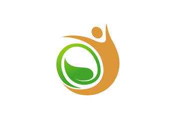 Creative Leaf Seed Body Symbol Design Illustration
