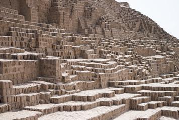 Inca ruin texture background, Lima, Peru