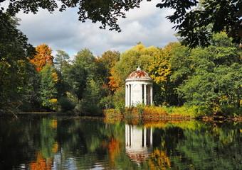 OLYMPUS DIGITAL CAMERA Rotunda in the park on the pond. The Vorontsov-Dashkovs' estate in the Moscow Region.