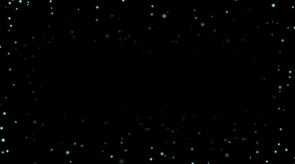 Night sky with blue stars on black background. Dark astronomy space template. Galaxy starry pattern wallpaper. Shiny stars, night sky universe. Cosmos stars wallpaper. Vector illustration