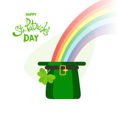 Happy St. Patrick's Day greeting.