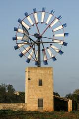 Wind turbine in Majorca Spain.