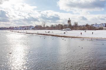 Zimowe wybrzeże w Sopocie