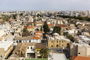 Elevated View oF Turkish part of Nicosia, Cyprus