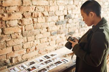 Photographer taking creative shots