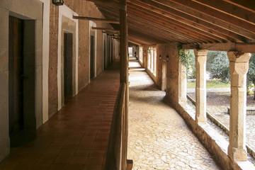 Lluc monastery in Majorca Spain.