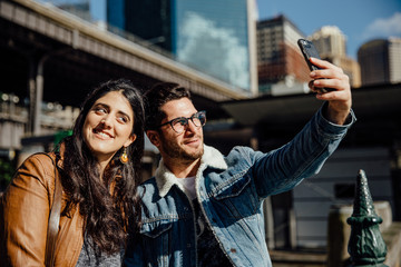 Young Travelers Take a Selfie in Sydney