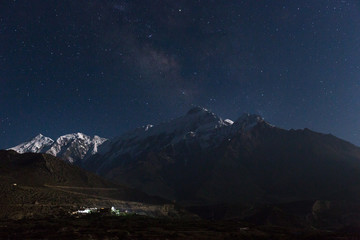 Milky way above the himalayas.