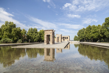 Temple of Debod, ancient egyptian temple,Madrid.Spain.