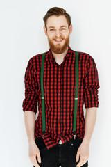 Portrait of happy bearded fellow