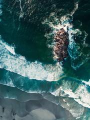 Aerial view of Costa do Morte, Galicia, Spain