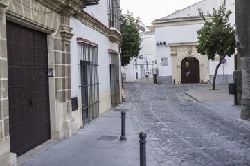 Ancient street, historic center of Jerez de la Frontera,Andalucia.Spain.