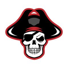 Pirates Logo Skull Vector