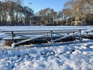 Snowy Independence Park Newark, NJ USA