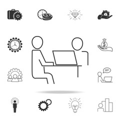 Businessman for the common desktop work computer icon. Detailed set of finance, banking and profit element icons. Premium quality graphic design. One of the collection icons