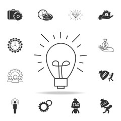 idea icon. Detailed set of finance, banking and profit element icons. Premium quality graphic design. One of the collection icons for websites, web design