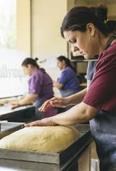 Preparing Easter bread