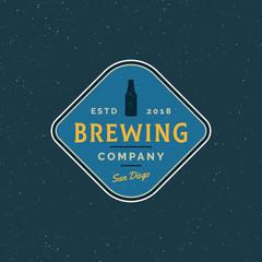 vintage brewery logo. retro styled beer emblem. vector illustration