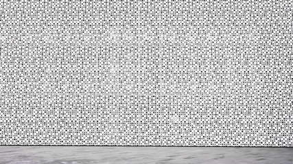 White patterned background with circles and dots or holes. Close up of black dots background over white background. Top quality. White Polka Dot Pattern Swiss Dots Texture
