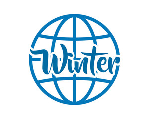 winter globe text typography typographic creative writing text image 1