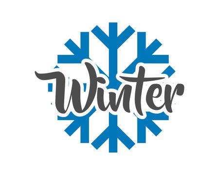 winter snow typography typographic creative writing text image 1