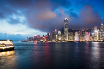 Victoria harbour, Hong Kong skyline