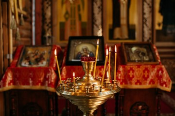 Indoors shot of Orthodox Church